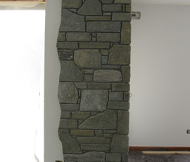 Rivestimento sottile(4cm)in pietra di Luserna pezzature miste